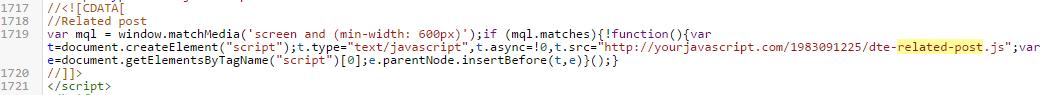 kode related posts widget blogger yang ada di template simini v.2