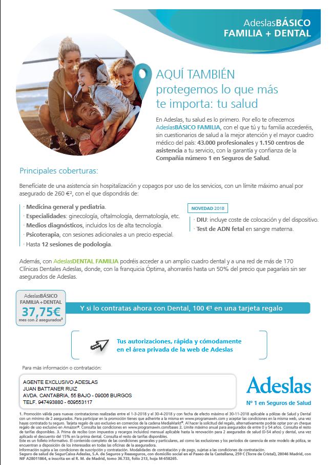 Oferta Seguro Salud Adeslas Adeslas Basico Familia Asegura Tu