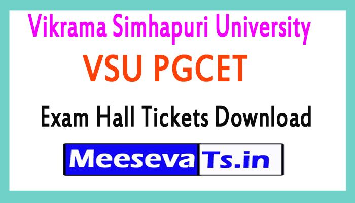 Vikrama Simhapuri University VSU PGCET Exam Hall Tickets Download