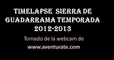 timelapse sierra de Guadarrama 2013