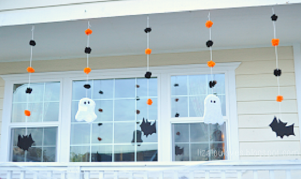 16 cute hanging paper ghost craft ideas for kids. Best DIY Halloween outdoor decoration craft ideas. Best easy to make hanging ghost decoration for outdoor. Simple and easy Halloween paper craft ghost for kids. Paper craft ideas for 4-5 years old kid. Paper ghost Halloween craft ideas. DIY Halloween ghost craft for children to make. Halloween night party decoration ideas.