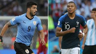 نتيحه مشاهدة مباراة فرنسا واوروجواي مباشر بتاريخ 20-11-2018 انتهت بفوز فرنسا 1 - 0