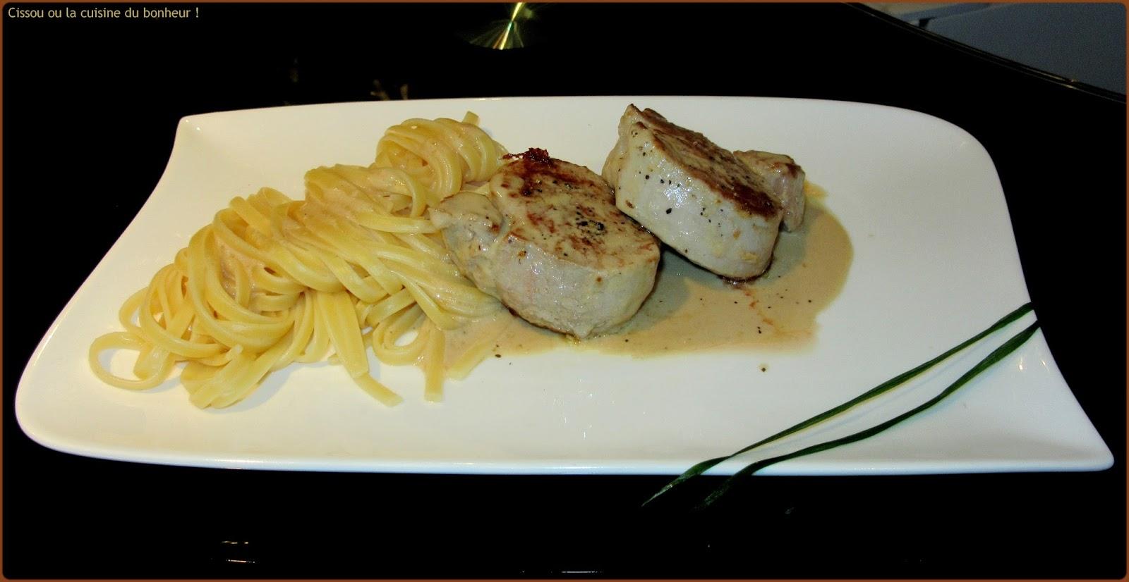 Cissou ou la cuisine du bonheur filet mignon sauce aux c pes for Du bonheur dans la cuisine