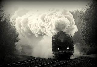 El tren, atravesando la Selva Negra, por ejemplo.