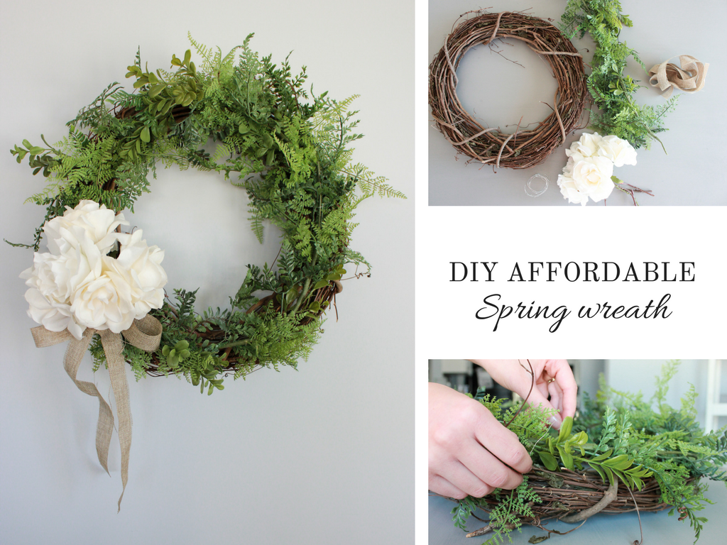 How to make an affordable spring wreath