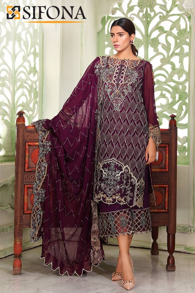 4ec5b964cb Sifona Luxury Elmas Collection 2018 SLE-07 with model Anum Malik