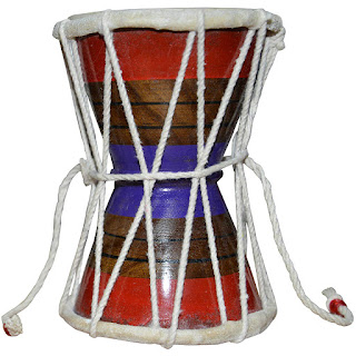DronaCraft Damru Handmade Indian Hand Percussion Musical Instrument