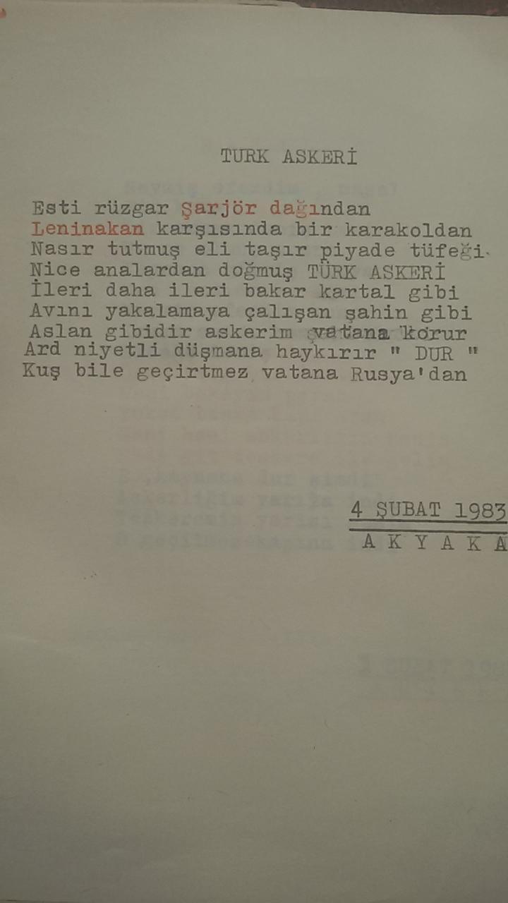 Asker Şiirleri - Türk Askeri