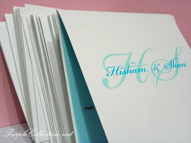 Square Plain Blue & White Wedding Card, Square, Plain, Blue, White, Wedding