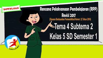 RPP Tematik Kelas 5 SD Tema 4 Subtema 2 Kurikulum 2013 Revisi 2017
