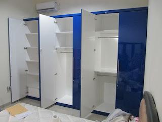Almari Pakaian Besar 6 Pintu Glossy Mengkilat - Furniture Semarang