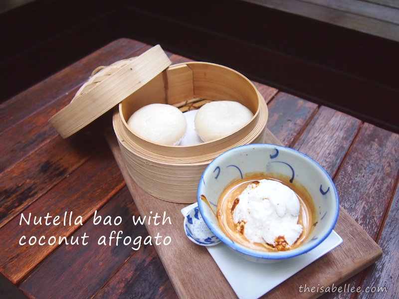 Nutella Bao with Coconut Affogato from Three Little Birds Coffee