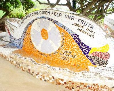 Foto de mural artístico en el Parque del Amor