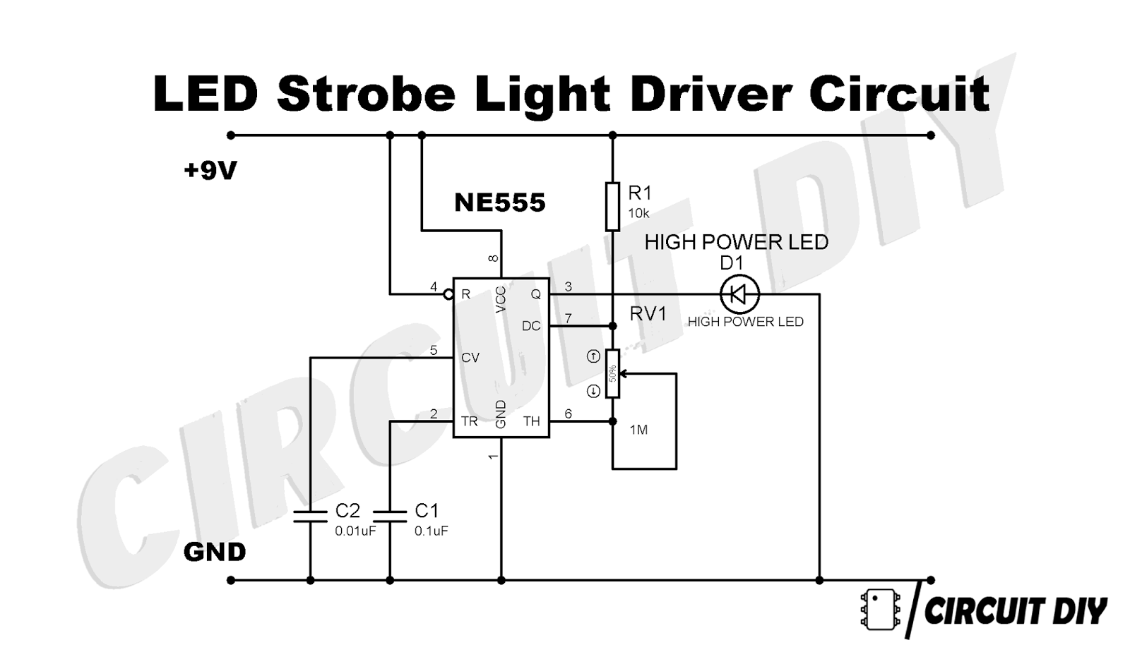 led strobe light circuit diagram