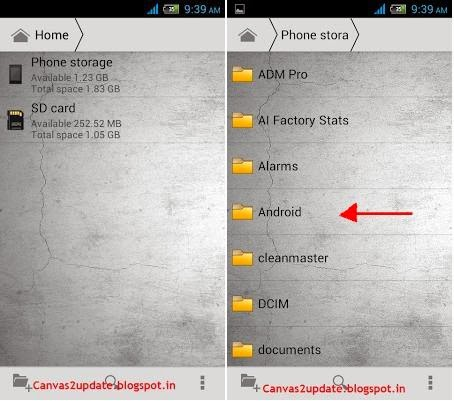 How To Install Android Games With Data and Obb On Micromax