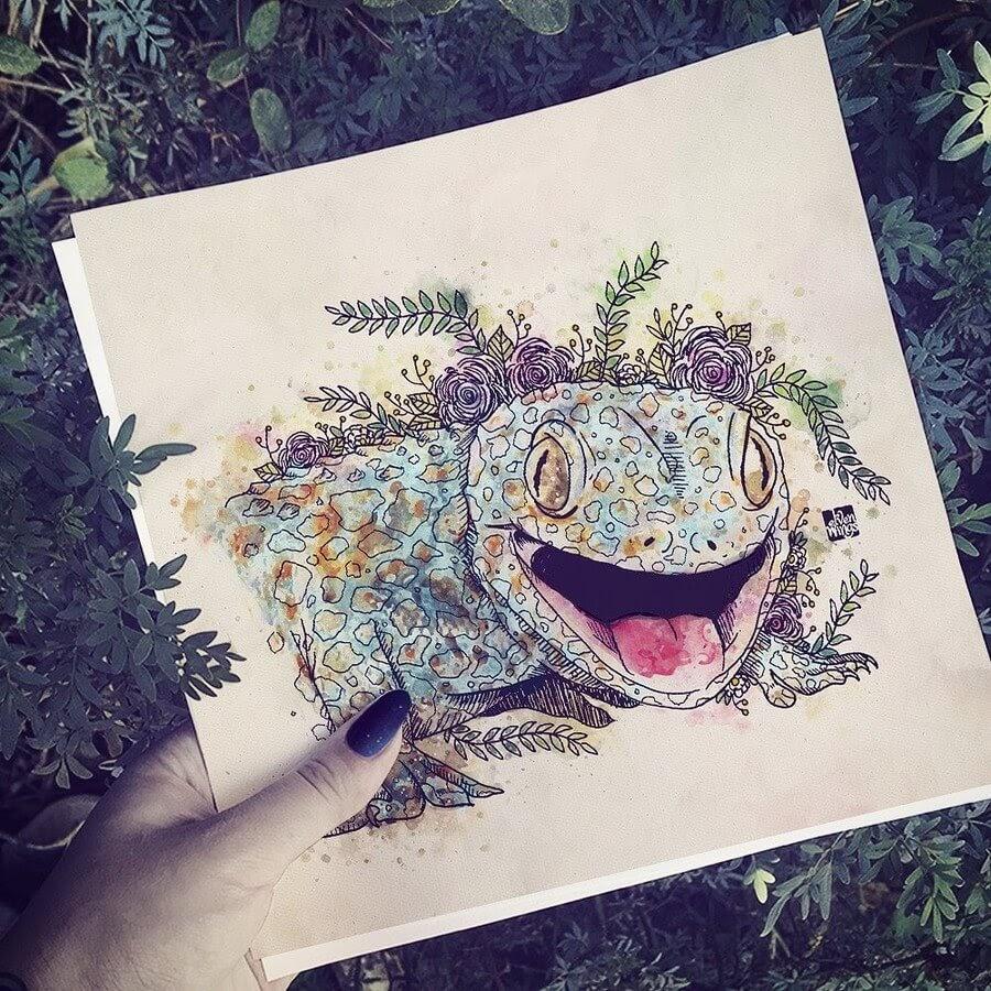 04-Tokai-Gecko-elvenwings-Animal-Portraits-www-designstack-co