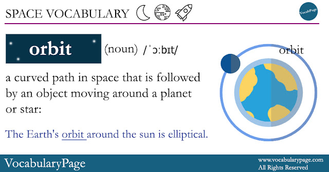 Space Vocabulary - Orbit
