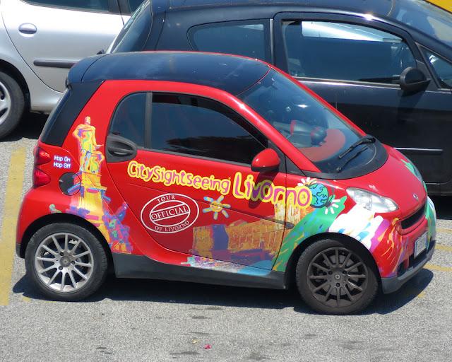 City Sightseeing car, Piazzale dei Marmi, Livorno