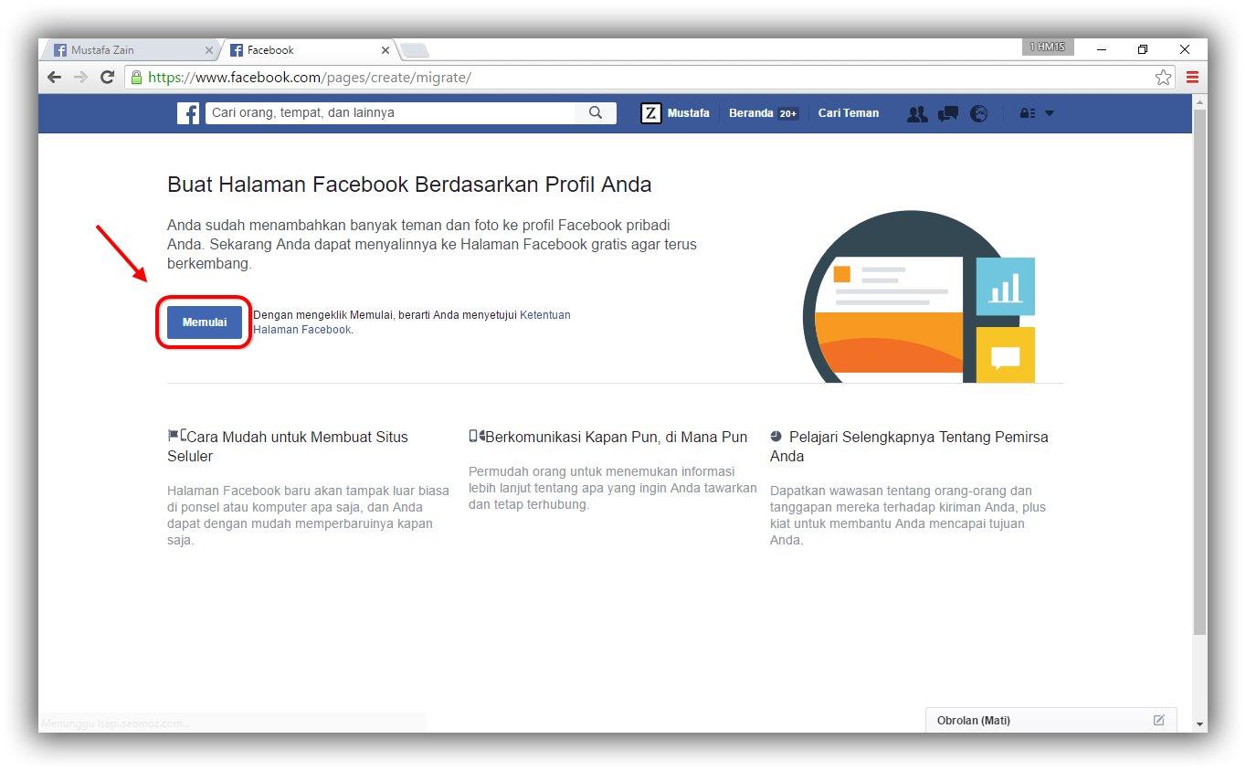 mudah mengubah profil facebook menjadi