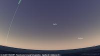 Poszukiwanie Gwiazdy Betlejemskiej - Kapella i Aldebaran świecić będą po zupełnie przeciwnej stronie nieboskłonu względem zachodu Słońca. Poniżej połowy wysokości nieba północno-wschodniego można będzie znaleźć drugą z najjaśniejszych wówczas gwiazd - Kapellę w Woźnicy. Niżej nad wschodem intensywnie migotać będzie pomarańczowym światłem najjaśniejsza gwiazda Byka - Aldebaran.