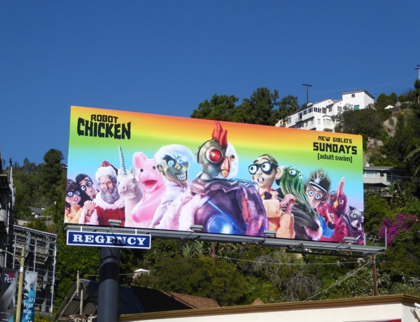 Robot Chicken season 8 billboard