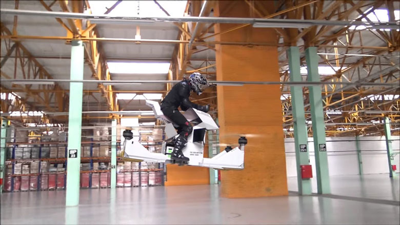 Pruebas de moto voladora Scorpion