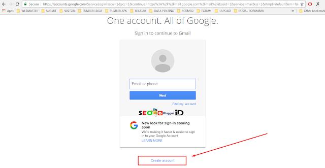 Langkah pertama Membuat email