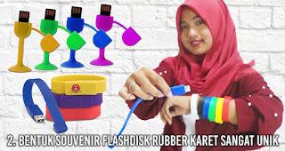 Bentuk Souvenir flashdisk rubber karet sangat unik