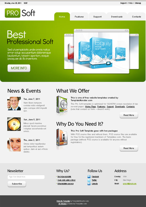 All Free Premium WordPress Themes: Free Website Template with jQuery ...