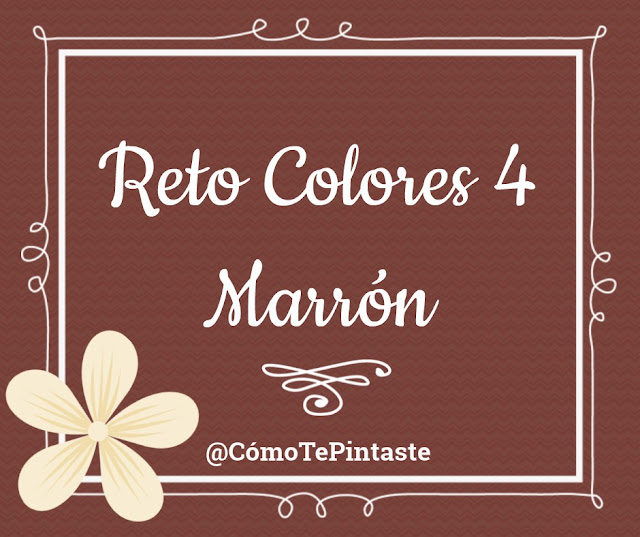 cartel reto colores 4 marron letras blancas