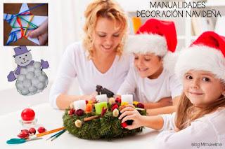 blog mimuselina decoración navideña casera con niños