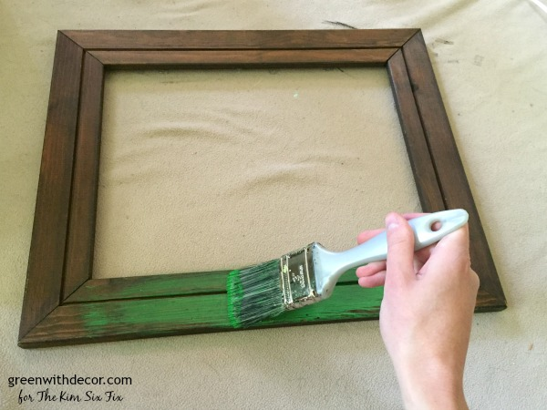 What a clever idea! An easy tutorial to turn an old frame into a pretty jewelry display.