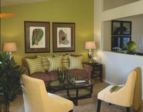 15 fotos de salas en verde y marr n salas con estilo for Decoracion de interiores verde