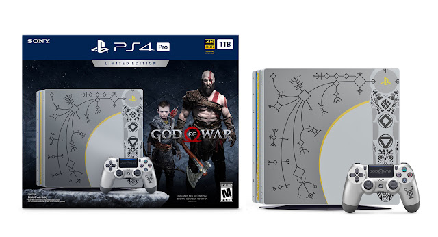 الكشف لأول مرة على النسخة الخاصة لجهاز بلايستيشن 4 بتصميم لعبة God of War ، إبداع رائع ...