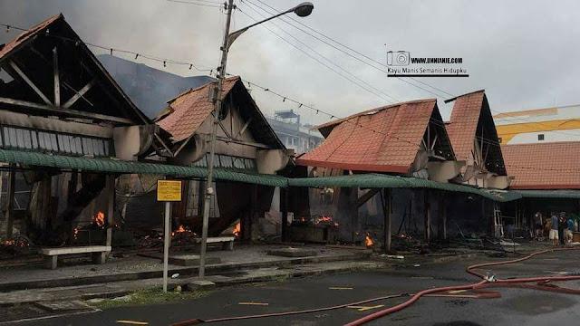 Legend Of Tawau, Pasar Gantung Tawau Kini Musnah Di Jilat Api