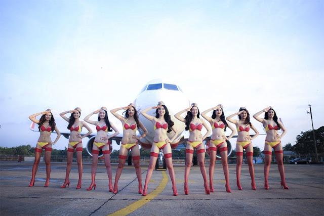 Вьетнамские авиалинии – откровенная фотосессия!