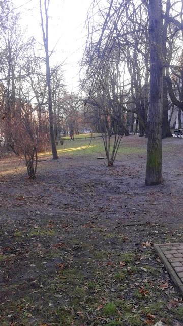 Krakowskie, grudniowe Planty
