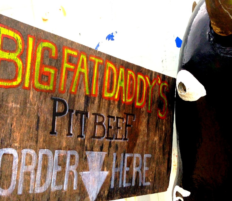 Big Fat Daddys Pit Beef Sign