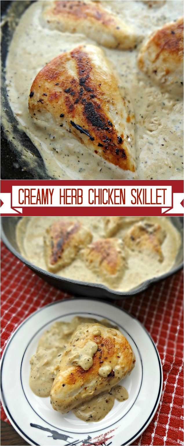 Creamy Herb Chicken Skillet