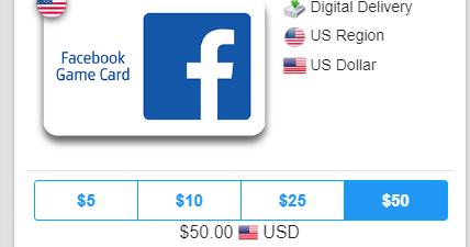 Facebook com/gamecards/redeem www Buy Facebook