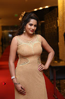 Actress Himaja Stills in Golden Spicy Long Dress at SIIMA Short Film Awards 2017 .COM 0307.JPG