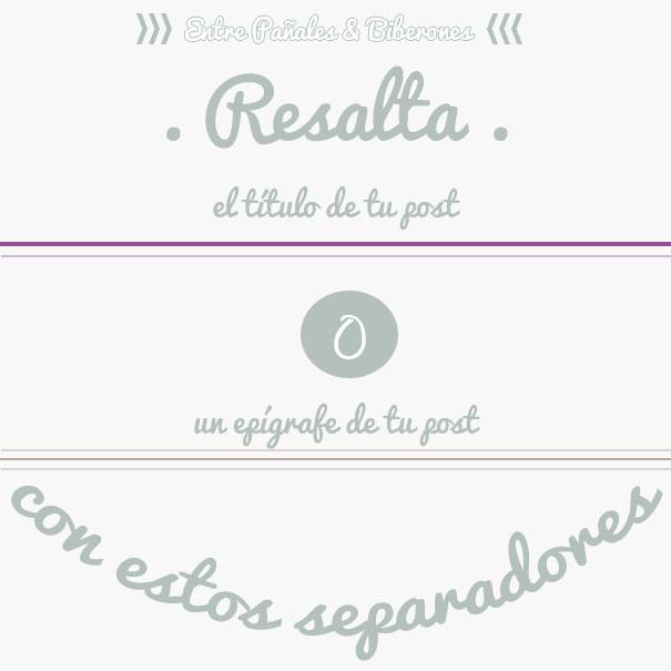 Cómo añadir una línea o separador en tus posts de Blogger