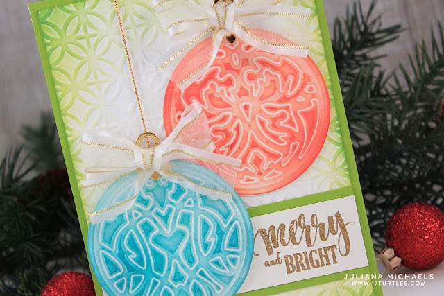 Detail image - Christmas Ornaments Card by Juliana Michaels featuring Spellbinders Gilded Ornaments Die