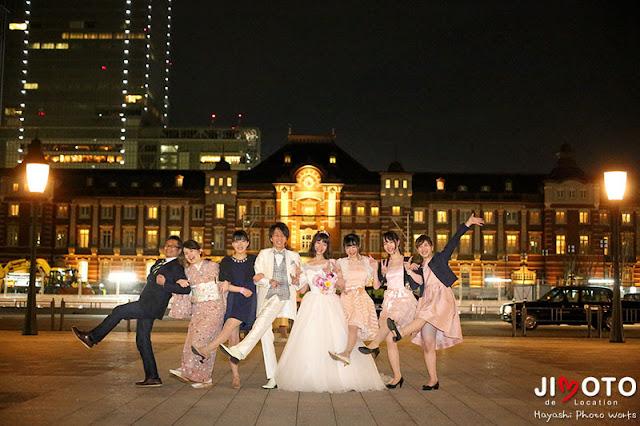 東京駅での結婚式のロケーション撮影