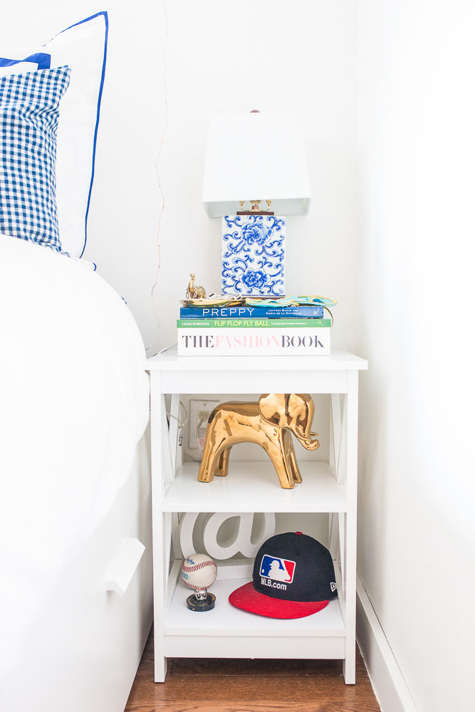 Side table Decor, how to decorate your nightstand - Chelsea NYC Studio Apartment Tour by popular New York blogger Covering the Bases