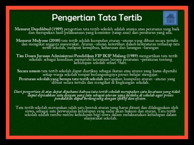 Contoh Format Tata Tertib Sekolah Lengkap Tahun Ajaran 2017/2018