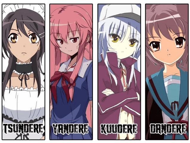 Mengenal Lebih Jauh Istilah Karakter Anime Tsundere, Dandere, Kuudere, dan Yandere