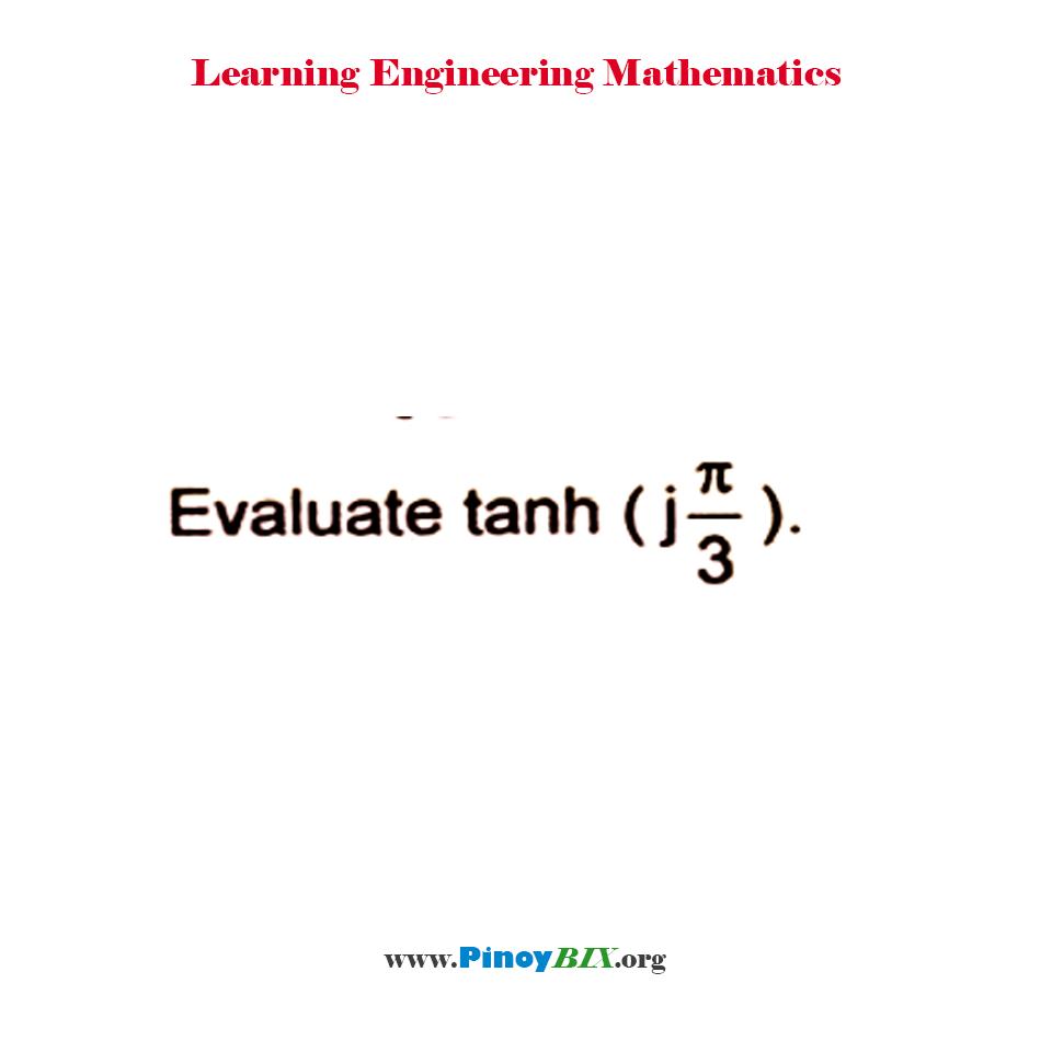 Evaluate cosh [j(π/3)]