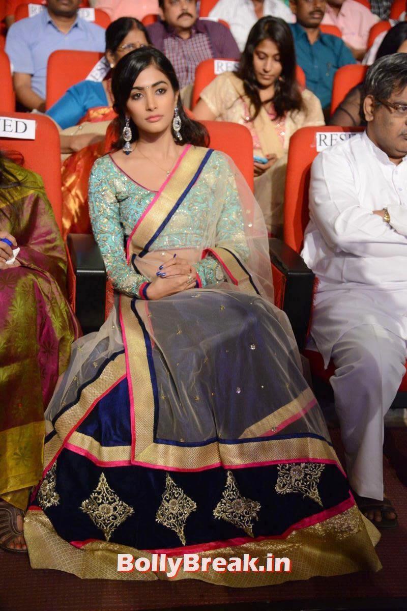 Actress Pooja Hegde Photo Gallery, hot Pics of Pooja Hegde from Mukunda Movie Audi Launch