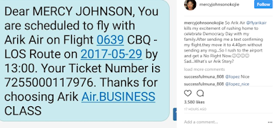 Mercy Johnson Disappointed By Arik Air! Untitled